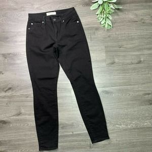 GAP | sz 27 women's black curvy true skinny jeans